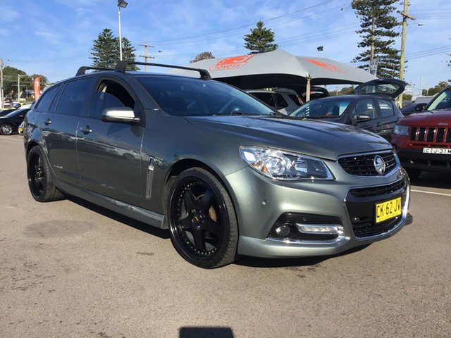 Used Holden Commodore VF MY15 SV6 Sportwagon Storm Cardiff, 2015 Holden Commodore VF MY15 SV6 Sportwagon Storm Grey 6 Speed Sports Automatic Wagon