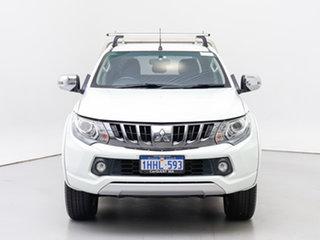 2017 Mitsubishi Triton MQ MY17 GLS (4x4) White 5 Speed Automatic Dual Cab Utility.