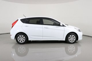2016 Hyundai Accent RB3 MY16 Active White 6 Speed CVT Auto Sequential Hatchback