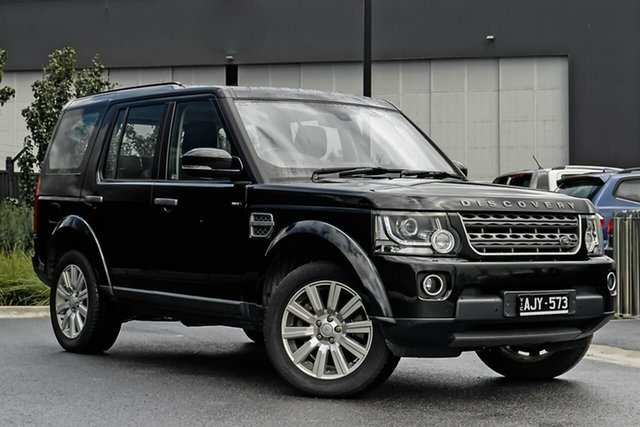 Used Land Rover Discovery Series 4 L319 MY16 TDV6 Essendon Fields, 2015 Land Rover Discovery Series 4 L319 MY16 TDV6 Black 8 Speed Sports Automatic Wagon