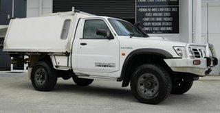 2005 Nissan Patrol GU II ST White 5 Speed Manual Cab Chassis.