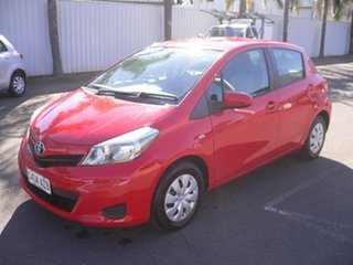 2013 Toyota Yaris NCP130R YR Red 5 Speed Manual Hatchback