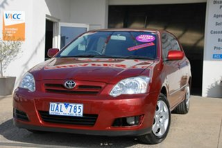 2005 Toyota Corolla ZZE122R Ascent Red 4 Speed Automatic Sedan.