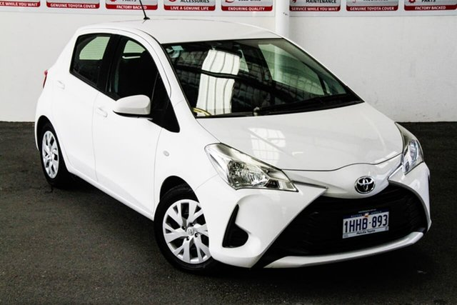 Pre-Owned Toyota Yaris NCP130R MY17 Ascent Myaree, 2017 Toyota Yaris NCP130R MY17 Ascent Glacier White 4 Speed Automatic Hatchback