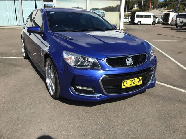 Used Holden Commodore VF II MY16 SS V Redline Cardiff, 2016 Holden Commodore VF II MY16 SS V Redline Blue 6 Speed Sports Automatic Sedan