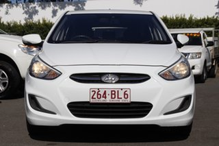 2014 Hyundai Accent RB2 Active White 6 Speed Manual Hatchback