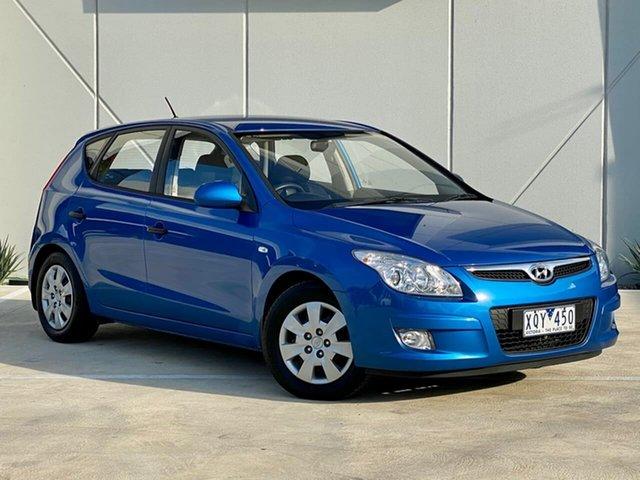 Used Hyundai i30 FD MY10 SX Thomastown, 2010 Hyundai i30 FD MY10 SX Blue 5 Speed Manual Hatchback