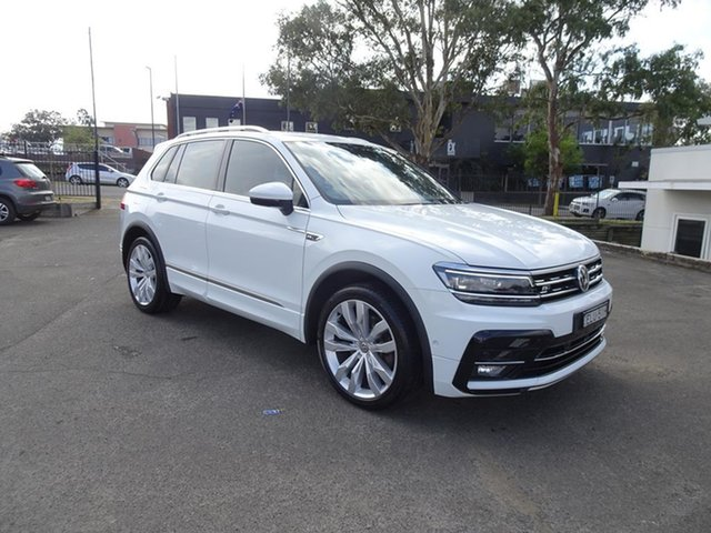 Used Volkswagen Tiguan 5N MY18 162TSI DSG 4MOTION Highline Nowra, 2017 Volkswagen Tiguan 5N MY18 162TSI DSG 4MOTION Highline Pure White 7 Speed Automatic Wagon