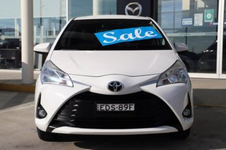 2019 Toyota Yaris NCP131R SX White 4 Speed Automatic Hatchback