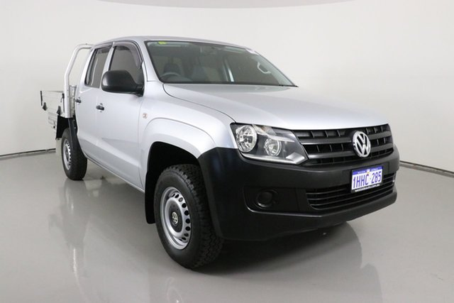 Used Volkswagen Amarok 2H MY14 TSI300 (4x2) Bentley, 2014 Volkswagen Amarok 2H MY14 TSI300 (4x2) Silver 6 Speed Manual Dual Cab Chassis