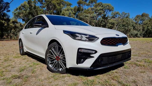 New Kia Cerato BD MY21 GT DCT Nuriootpa, 2021 Kia Cerato BD MY21 GT DCT Snow White Pearl 7 Speed Automatic Sedan