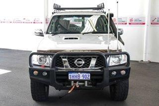 2015 Nissan Patrol GU Series 9 ST N-Trek White 5 Speed Manual Wagon.