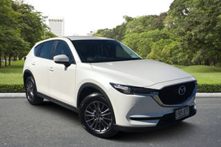 2017 Mazda CX-5 KF4W2A Touring SKYACTIV-Drive i-ACTIV AWD White 6 Speed Sports Automatic Wagon.