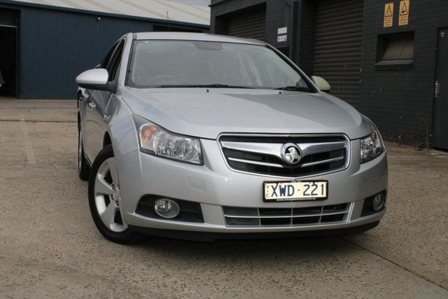 Used Holden Cruze JG CDX West Footscray, 2010 Holden Cruze JG CDX Silver 6 Speed Automatic Sedan