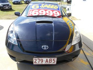 2003 Toyota Celica ZZT231R MY03 SX Black 6 Speed Manual Liftback.