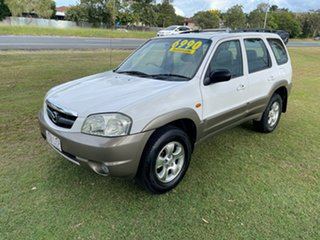 2002 Mazda Tribute Luxury White 4 Speed Automatic Wagon.