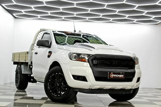 2018 Ford Ranger PX MkII MY18 XL 2.2 (4x2) (5 Yr) White 6 Speed Manual Cab Chassis.