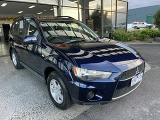 2011 Mitsubishi Outlander ZH MY11 LS Blue 6 Speed CVT Auto Sequential Wagon.