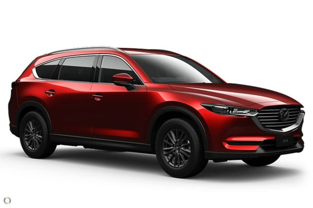 New Mazda CX-8 KG2WLA Sport SKYACTIV-Drive FWD Waitara, 2021 Mazda CX-8 KG2WLA Sport SKYACTIV-Drive FWD Red 6 Speed Sports Automatic Wagon