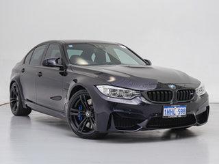 2016 BMW M3 F80 LCI Black 7 Speed Auto Dual Clutch Sedan.
