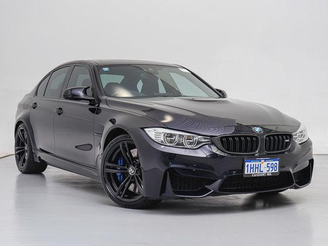 Used BMW M3 F80 LCI , 2016 BMW M3 F80 LCI Carbon Black 7 Speed Auto Dual Clutch Sedan