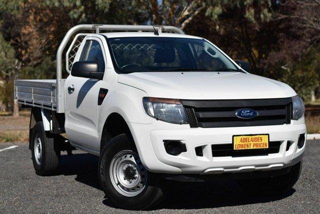 Used Ford Ranger PX XL Hi-Rider Morphett Vale, 2014 Ford Ranger PX XL Hi-Rider White 6 Speed Sports Automatic Cab Chassis