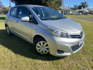 2013 Toyota Yaris NCP130R YR Silver 5 Speed Manual Hatchback.