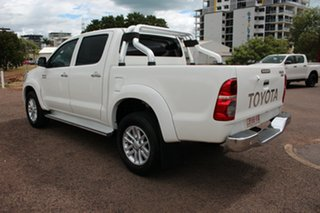 2014 Toyota Hilux KUN26R MY14 SR5 Double Cab Glacier White 5 Speed Automatic Utility