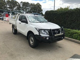 2017 Mazda BT-50 UR0YG1 XT Freestyle White 6 speed Automatic Cab Chassis.