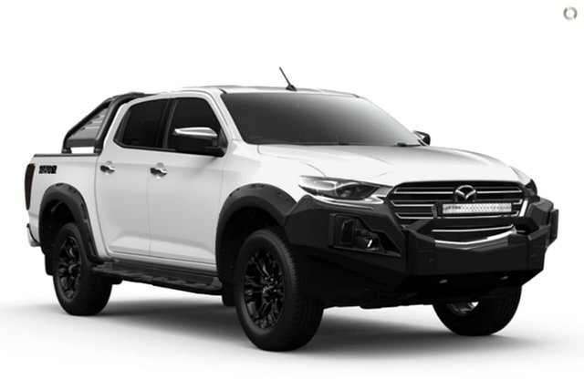 New Mazda BT-50 TFS40J Thunder Waitara, 2021 Mazda BT-50 TFS40J Thunder White 6 Speed Sports Automatic Utility