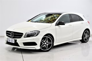 2014 Mercedes-Benz A-Class W176 A200 DCT White 7 Speed Sports Automatic Dual Clutch Hatchback.