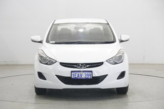 2012 Hyundai Elantra MD2 Active White 6 Speed Sports Automatic Sedan.