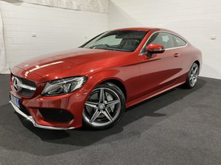 2016 Mercedes-Benz C-Class C205 807+057MY C200 9G-Tronic Red 9 Speed Sports Automatic Coupe
