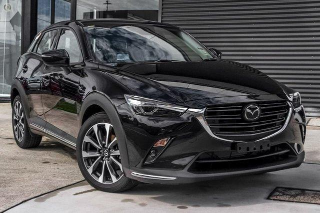 New Mazda CX-3 DK4W7A Akari SKYACTIV-Drive i-ACTIV AWD Waitara, 2021 Mazda CX-3 DK4W7A Akari SKYACTIV-Drive i-ACTIV AWD Black 6 Speed Sports Automatic Wagon
