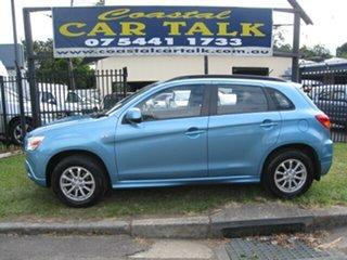 2012 Mitsubishi ASX XA MY12 (2WD) Blue Continuous Variable Wagon.
