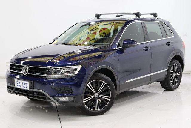 Used Volkswagen Tiguan 5N MY18 132TSI DSG 4MOTION Adventure Brooklyn, 2017 Volkswagen Tiguan 5N MY18 132TSI DSG 4MOTION Adventure Blue 7 Speed