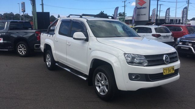 Used Volkswagen Amarok 2H MY15 TDI420 4Motion Perm Highline Cardiff, 2015 Volkswagen Amarok 2H MY15 TDI420 4Motion Perm Highline White 8 Speed Automatic Utility