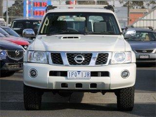 2011 Nissan Patrol GU 7 ST White Automatic Wagon.