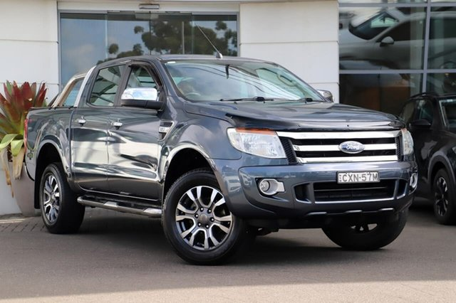 Used Ford Ranger PX XLT Double Cab 4x2 Hi-Rider Sutherland, 2014 Ford Ranger PX XLT Double Cab 4x2 Hi-Rider Grey 6 Speed Sports Automatic Utility