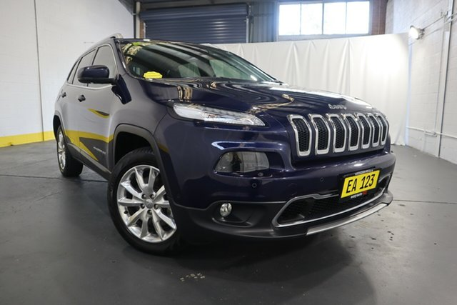 Used Jeep Cherokee KL Limited Castle Hill, 2014 Jeep Cherokee KL Limited Dark Blue 9 Speed Sports Automatic Wagon