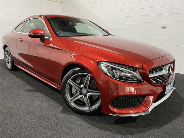 Used Mercedes-Benz C-Class C205 807+057MY C200 9G-Tronic Glenorchy, 2016 Mercedes-Benz C-Class C205 807+057MY C200 9G-Tronic Red 9 Speed Sports Automatic Coupe