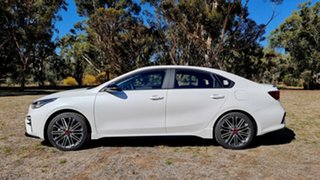 2021 Kia Cerato BD MY21 GT DCT Snow White Pearl 7 Speed Automatic Sedan