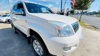 2009 Toyota Landcruiser Prado KDJ120R GXL White 5 Speed Automatic Wagon.