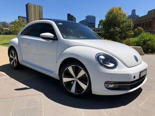 2013 Volkswagen Beetle 1L MY13 Coupe DSG White 7 Speed Sports Automatic Dual Clutch Liftback.