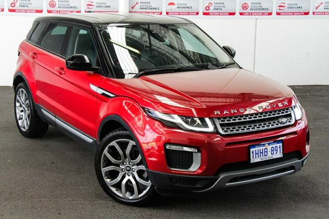 Pre-Owned Land Rover Range Rover Evoque LV MY16 TD4 150 SE Myaree, 2016 Land Rover Range Rover Evoque LV MY16 TD4 150 SE Red 9 Speed Automatic Wagon