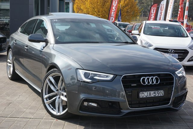 Used Audi A5 8T MY16 S Line Plus Sportback S Tronic Quattro Phillip, 2016 Audi A5 8T MY16 S Line Plus Sportback S Tronic Quattro Grey 7 Speed