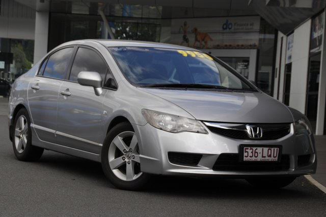 Used Honda Civic 8th Gen MY09 VTi-L Mount Gravatt, 2009 Honda Civic 8th Gen MY09 VTi-L Silver 5 Speed Automatic Sedan