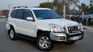 2005 Toyota Landcruiser Prado KZJ120R Grande Pearl White 4 Speed Automatic Wagon.