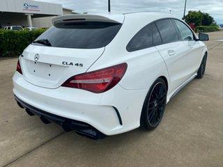 2018 Mercedes-Benz CLA-Class X117 808+058MY CLA45 AMG Shooting Brake SPEEDSHIFT DCT 4MATIC White.