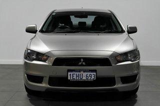 2012 Mitsubishi Lancer CJ MY12 Platinum Silver 5 Speed Manual Sedan.
